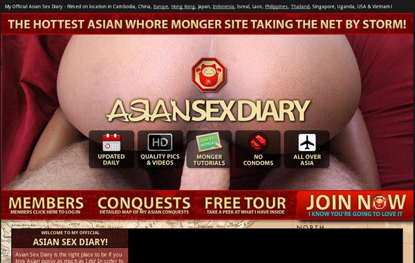 Asiansexdiary Signup Page