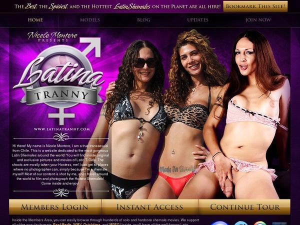 Working Latinatranny.com Account