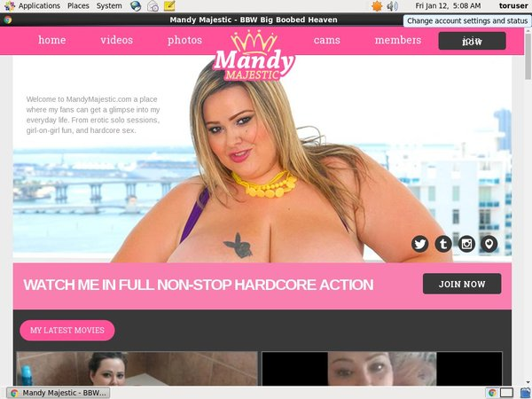 Mandy Majestic New Password