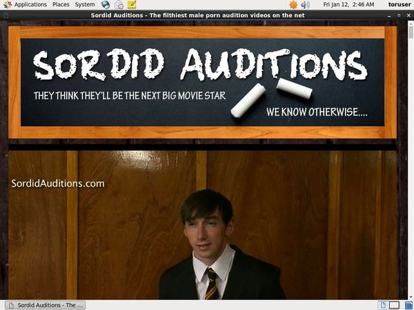 Sordid Auditions V2 Updates