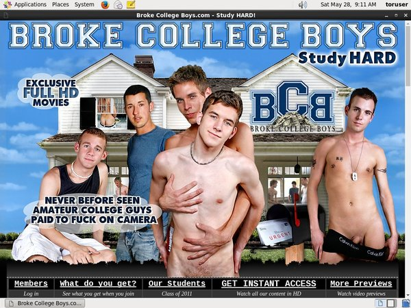 Accounts To Broke College Boys