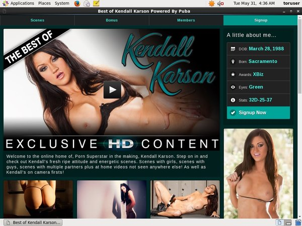 Kendall Karson Buy Credits