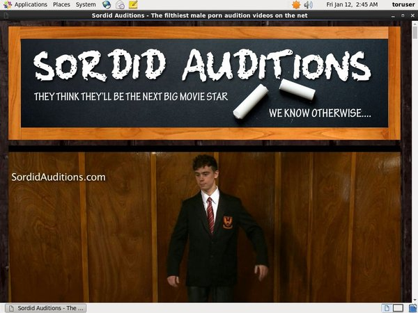 Sordid Auditions Account And Password