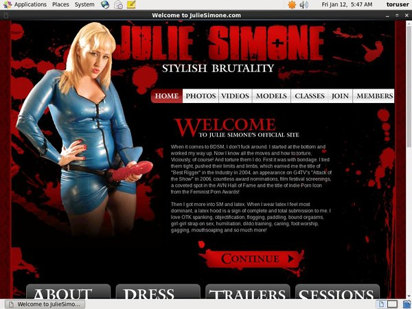 FreeJulie Simone Password
