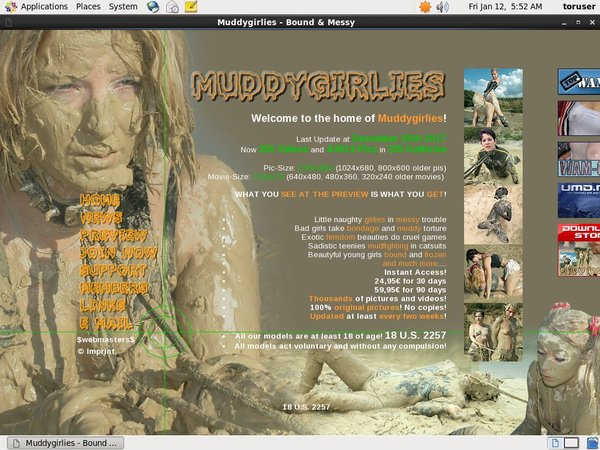 Muddy Girlies Cash